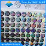 Custom Ultra Destructible Holograma pegatinas de vinilo de oro