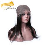 Alimina 100 Virgin cheveux raides brésilien Full Lace Wigs