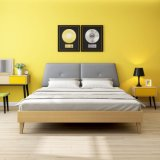 チタニウムクリックのメモリ本革の折る壁のベッド(HX-8ND9105)
