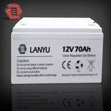 Batterie rechargeable d'acide de plomb scellée du panneau solaire AGM de gel du professionnel 12V 70ah