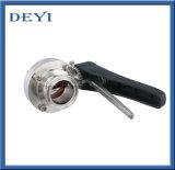 Válvula de desviador sanitaria de Pnematic del acero inoxidable