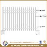 ゲートが付いている装飾によって電流を通される構築の住宅の塀のプライバシーの塀