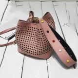 2017 новых отклоняя сумок девушок мешка Tote женщин ведра полых модных с цветастой обитой планкой Sy8528