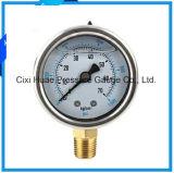 ≃ 04のステンレス鋼の圧力計水清浄器圧力メートル