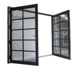 Черные решетки украсили дверь законченный алюминиевого двойного Casement внешнюю
