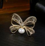 Het Glanzen CZ van de Decoratie van het Huwelijk van de Partij van de Stijl van de manier & Parel Shell 925 de Zilveren Juwelen van de Broche