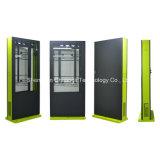 65 Zoll-vertikaler Fußboden, der im Freienbildschirmanzeige LCD-interaktiven Kiosk steht