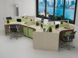 Nuevo modular fácil de montar la partición de la Oficina de madera con cajón (SZ-WST653)
