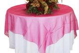 Pano de tabela brilhante Overlay do organdi de Organza do casamento tabela brilhante de cristal