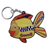 Os peixes projetam Keychain plástico Eco-Friendly para relativo à promoção