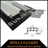 Profilo di alluminio sospeso del LED per l'indicatore luminoso di striscia del LED con il coperchio di plastica