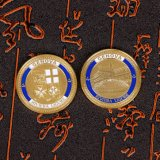 Pièce de monnaie personnalisée d'enjeu estampée par laiton
