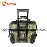 Sacchetto di rotolamento caldo del carrello della valigia attrezzi di colore di Camo di vendita 2018 con la barra e le rotelle di tensionamento