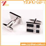 Botão de punho de prata feito sob encomenda da forma para o presente relativo à promoção (YB-cUL-03)