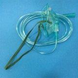 Máscara de oxígeno al por mayor del PVC de la fábrica con el clip de la nariz y 7 pies de aislante de tubo