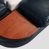 New Modern Genuine Wooden Leather Bed for Fb8142 Hotel