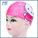 Sombreros impermeables flexibles del casquillo de natación del silicón de los niños