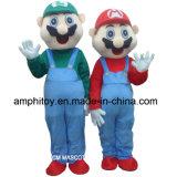 Traje da mascote do personagem de banda desenhada de Mario
