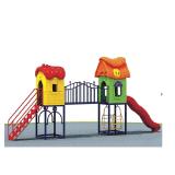 Patio de recreo al aire libre Equipo plástico tobogán para niños, niñas y niños (un-126-5)