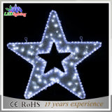 Star Shape LED Luzes de Natal / Star Christmas Motif Rope Lights