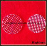 Transparente modificar la hoja Drilling de la placa para requisitos particulares de cristal de cuarzo del laser con los orificios