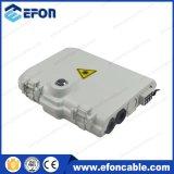 FTTH Outdoor 8 Core Pole / Wall Box de montagem de montagem com 1 * 8 PLC Splitter