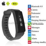 Bluetooth Anti-Lost Pulsera Reloj inteligente con pantalla OLED reloj de pulsera W6