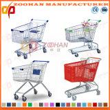 슈퍼마켓 아연 또는 크롬 쇼핑 카트 (Zht59)