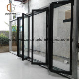 Interrupção térmica preta porta de alumínio