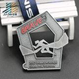 La fabbrica di Jiabo ha annunciato le medaglie antiche del metallo di Jiu-Jitsu del bronzo dell'argento dell'oro