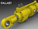 Cilindro hidráulico ativo dobro de petróleo hidráulico da série de Hsg para a máquina escavadora
