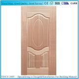 Venta caliente sin la piel moldeada chapa de la puerta de HDF con el grano de madera