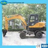 Escavatore a ruote 6.5t dell'escavatore Lk70 della rotella