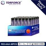 1.5V China Fertigung-Hochleistungsbatterie für Rauch Detetor (R30-AAA 48PCS)