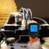 Het industriële Infrarode Kanon van de Temperatuur van de Thermometer met de Maximum Vertoning van het Gezicht van de Laser