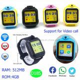 La montre de traqueur des gosses GPS du WiFi 3G la plus neuve avec l'appareil-photo D18s de rotation