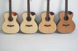 Cutaway 40 дюймов Handcraft верхняя твердая акустическая гитара