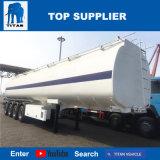 Aanhangwagen 3 van de Tanker van het Koolstofstaal van de Aanhangwagen van de Tankwagen van de Olie van de titaan De Brandstof die van Assen Semi Aanhangwagen Vervoer