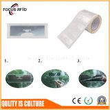 Etiqueta de papel del parabrisas del pegamento RFID de la frecuencia ultraelevada para el sistema del estacionamiento de vehículo