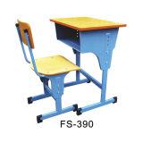 Mobiliário escolar de madeira na sala de aula Estudante Júnior única mesa e cadeira (FS-390)