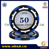 14G 3 tonos arcilla adhesivo Poker Chip con Personalizar pegatinas (SY-E18)