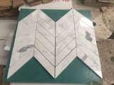 Luxuxentwurfs-Shell und Marmor-Herringbone Mosaik-Muster-Mosaik-Fliese