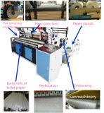 El registro automático de alta velocidad del papel de tejido de tocador vio venta del precio de la cortadora