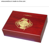 High quality Wooden box with LOCK for Bottles