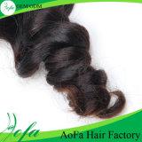 美しい女性のための加工されていないブラジルの波状のRemyのバージンの毛