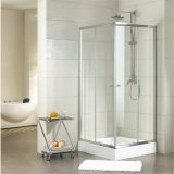 Liso de vidro do chuveiro Tempered e curvado