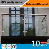 Pilar de cristal del pasamano del acero inoxidable para el balcón