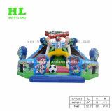 Het opblaasbare Spel die van de Hindernis Speelplaats met Dia beklimmen