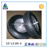 Roda de borracha de ar de plástico de 10 polegadas