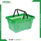 Sola cesta de compras de la maneta del colmado plástico